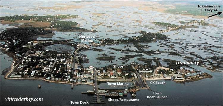 Aerial Photo of Cedar Key Florida