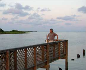 Fishing on the Dock at slack tide