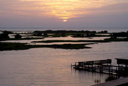 Sunrise from Tranquility's Balcony - Cedar Key Vacation Rental